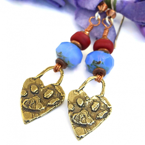 Handmade dog rescue earrings.