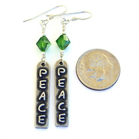 Peace earrings - gift idea.