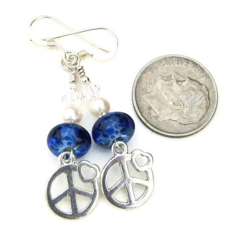 peace sign jewelry with hearts