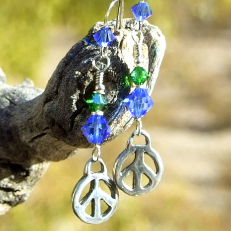 peace signs handmade jewelry gift for women
