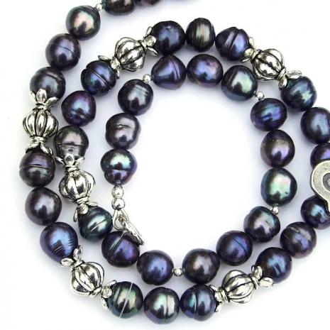 beautiful gray peacock pearls