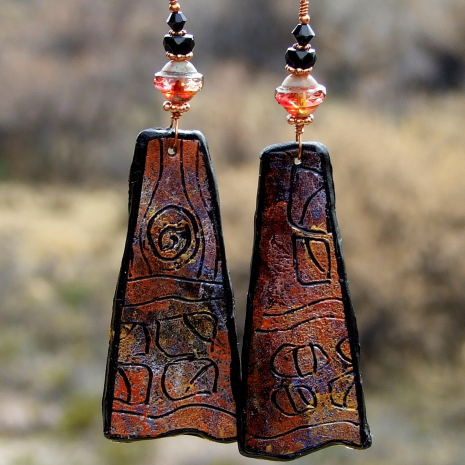 petroglyph inspired earrings for women