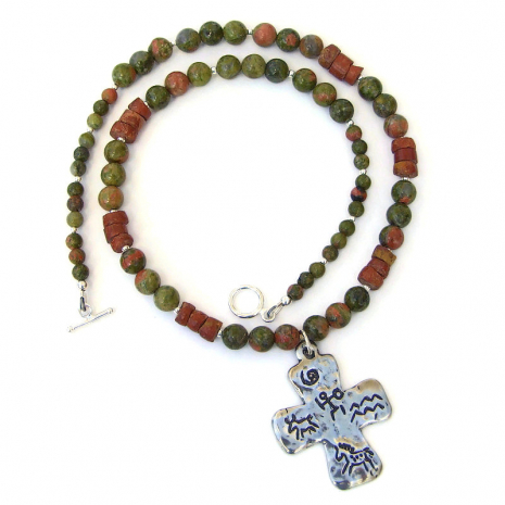 petroglyph cross jewelry gift for women