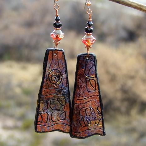petroglyph earrings gift for women