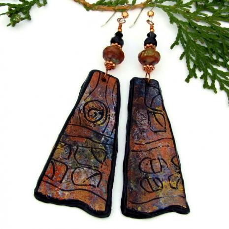 lightweight jewelry for women petroglyph earrings