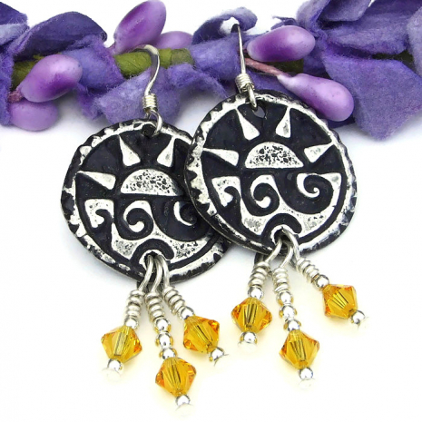 pewter sun and surf summer jewelry
