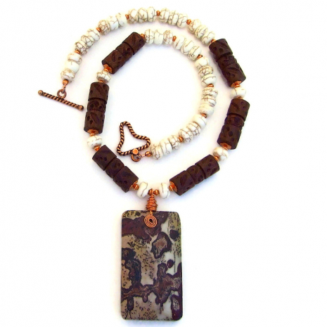picture dendritic jasper pendant jewelry gift for women