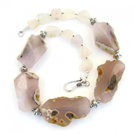 chunky gemstone necklace gift for women