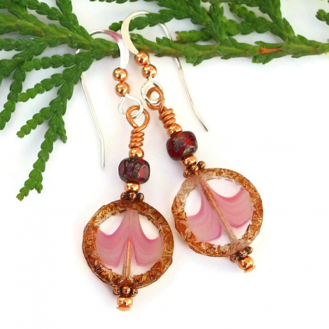 pink and brown jewelry for women