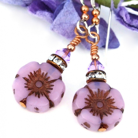 pink flower jewelry mothers day gift