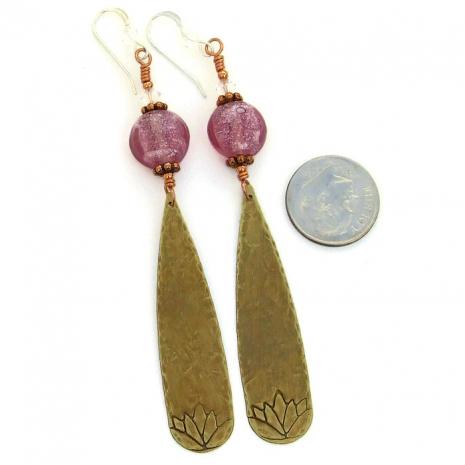 Handmade yoga earrings for women - gift idea.
