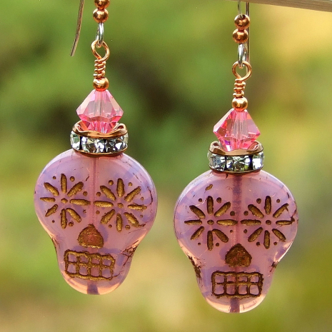sugar skull jewelry for women halloween day of the dead