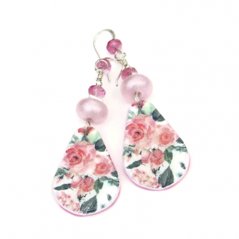 pink roses jewelry gift for women