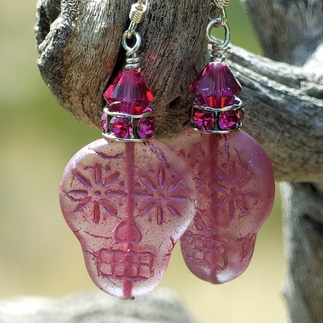 pink sugar skulls jewelry gift for women