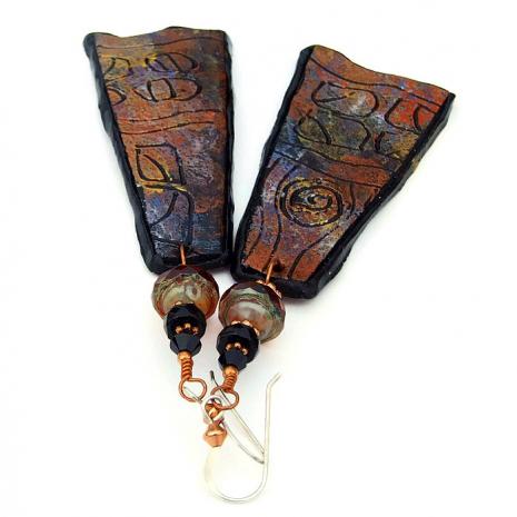 lightweight earrings for women petroglyph jewelry