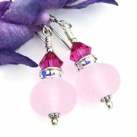 One of a kind pink jewelry perfect for a Valentine's gift..