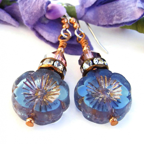 Flower jewelry for women - perfect handmade gift.