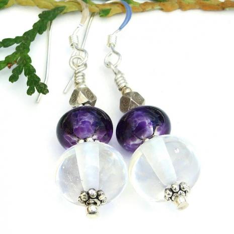 handmade lampwork glass earrings for her