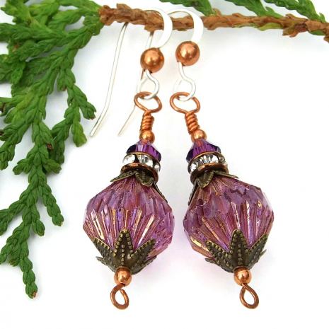 Purple jewelry gift idea for women