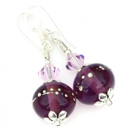 purple and silver jewelry mothers day gift