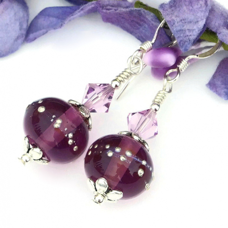 amethyst purple jewelry for her