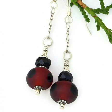 red and black jewelry for women