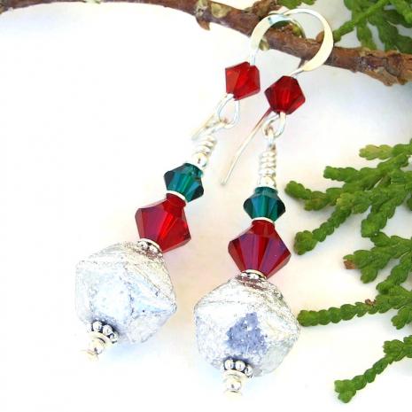 red green silver christmas holiday jewelry gift for women