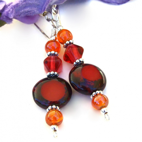 red hot summer earrings