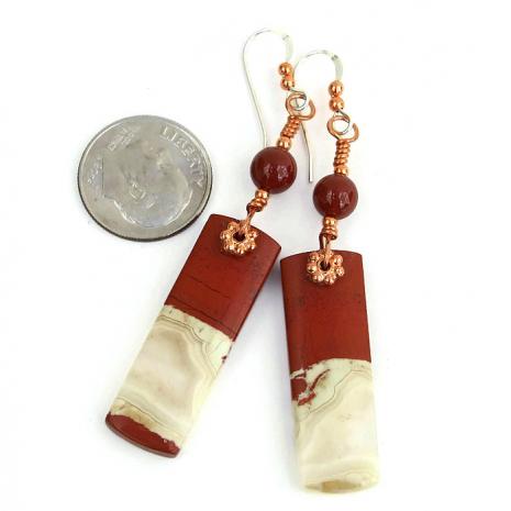 red river jasper gemstone earrings for women