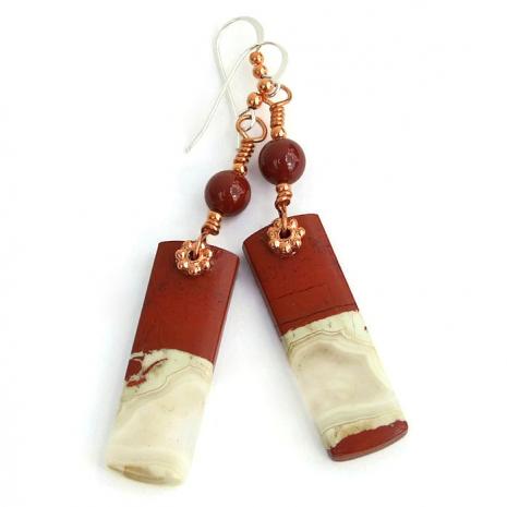 unique jasper gemstone jewelry gift idea for women