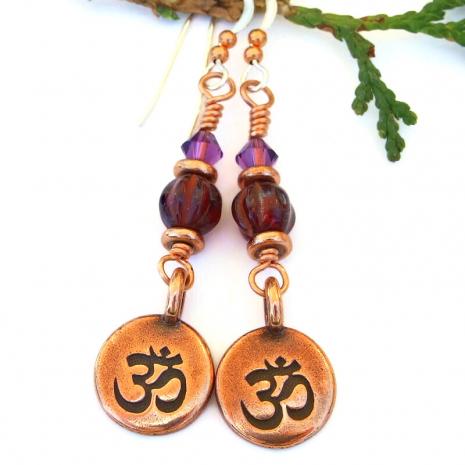 root crown chakra yoga earrings