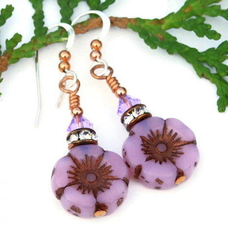 rose pink flower jewelry gift for women