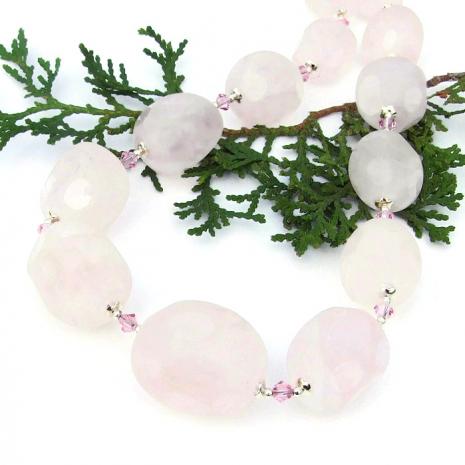 asteroid cut rose quartz gemstone jewelry