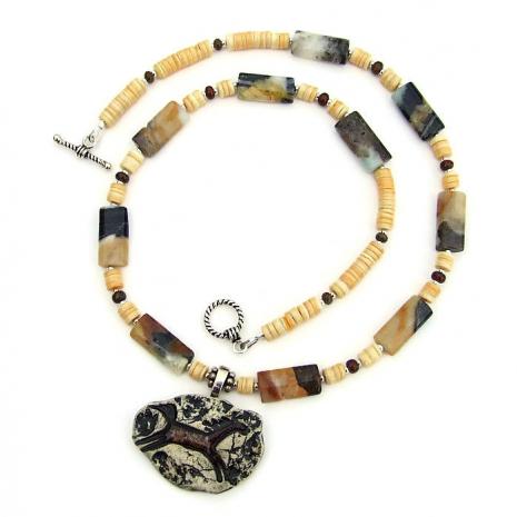 Handmade horse necklace.