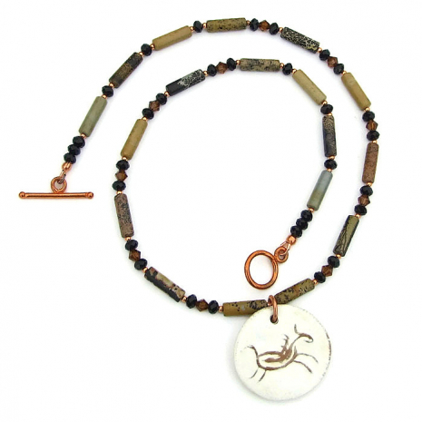 Petroglyph horse jewelry for women.