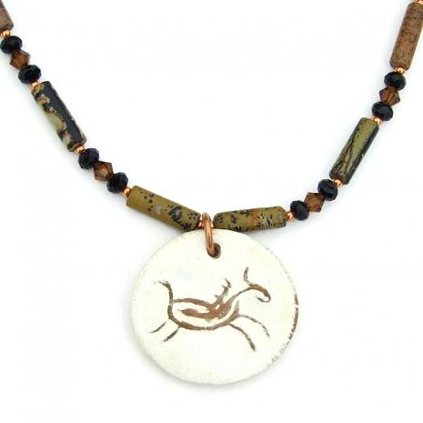 Southwest petroglyph horse necklace.