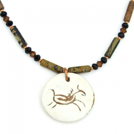 Southwest petroglyph horse necklace.