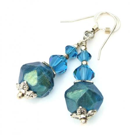 rustic aqua english cut jewelry gift for her