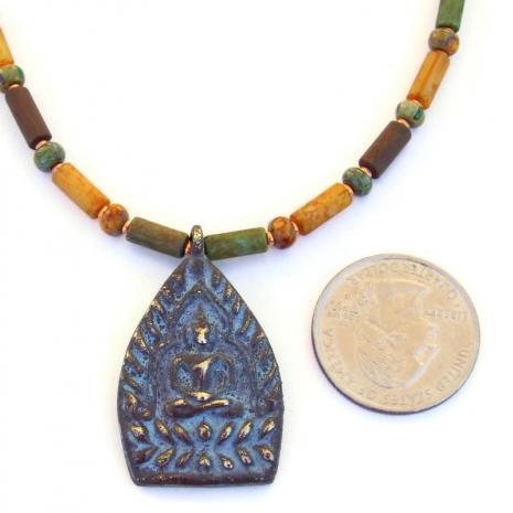 rustic shakyamuni buddha pendant jewelry gift for her
