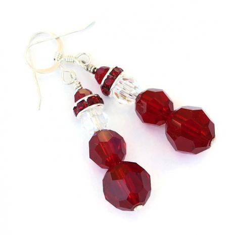 Christmas Santa Claus earrings