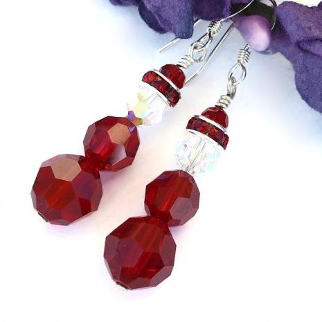 Handmade Santa earrings