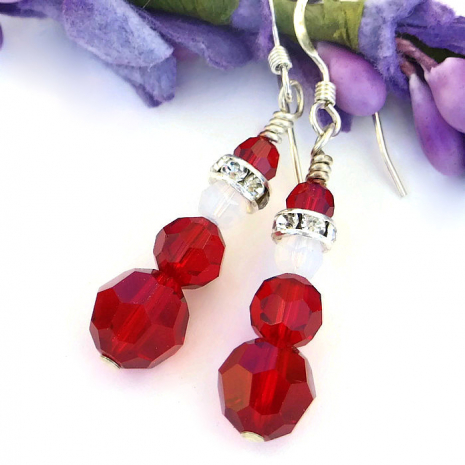 holiday jewelry santa earrings.