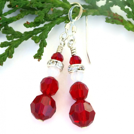 santa claus earrings for women.