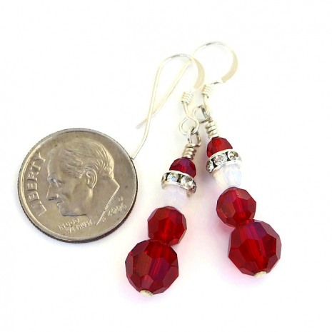 christmas santa claus earrings for her