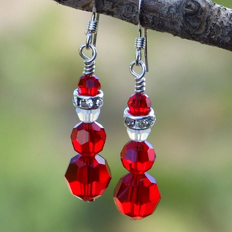 santa claus earrings christmas jewelry for her