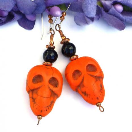 Day of the Dead skull earrings - gift idea..