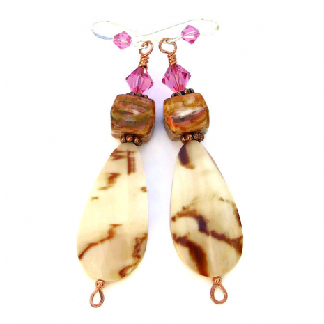 Melo melo shell teardrop earrings.