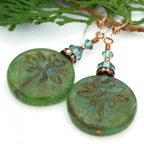 Dragonfly fashion earrings