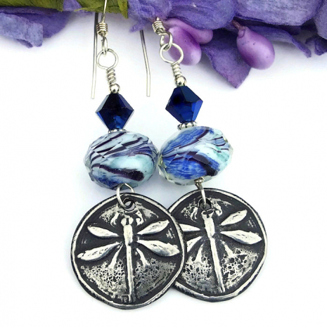 unique dragonfly earrings for her
