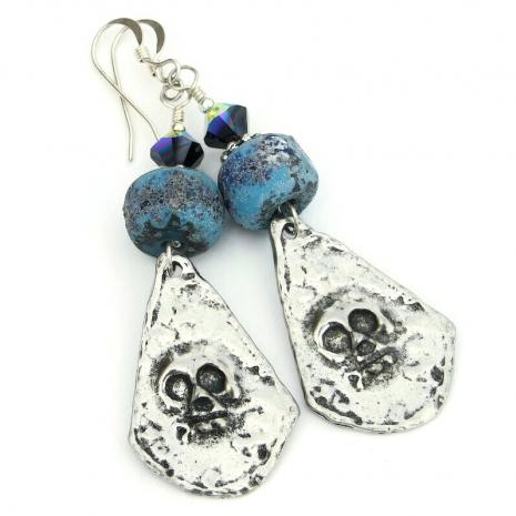 skull earrings gift for women